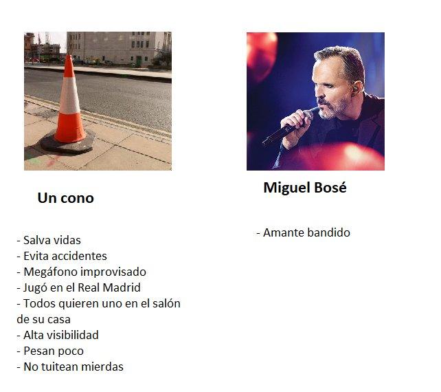 Respuesta en Twitter a tuit de Miguel Bosé