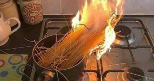 Espagetis con fuego