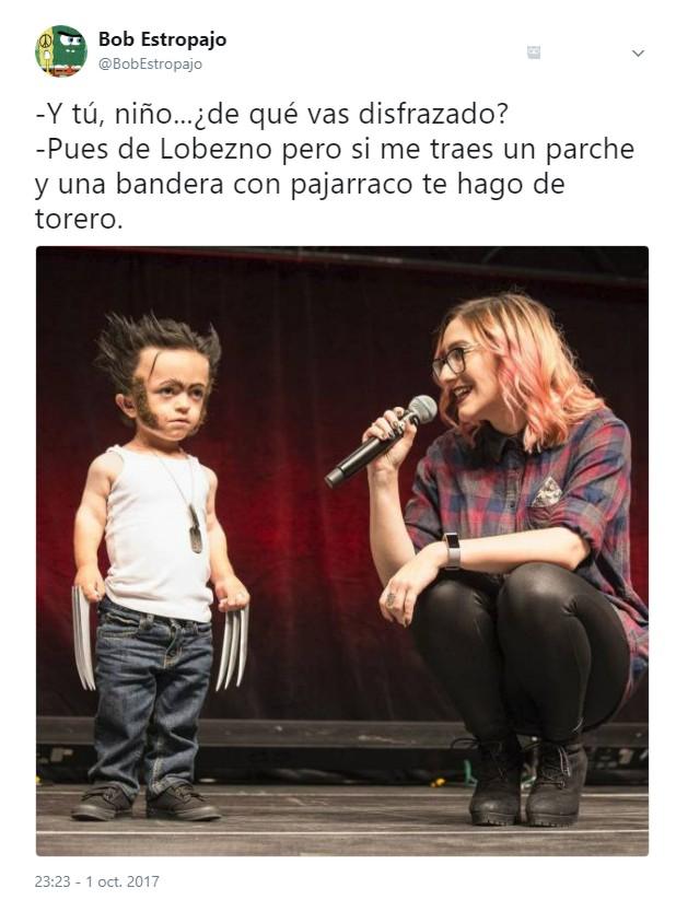 Niño disfrazado de Lobezno